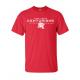 T-shirt rouge sérigraphie 1 couleur