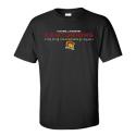 T-shirt noir sérigraphie 3 couleurs