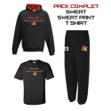Pack Sweat, bas + t-shirt noir 3 couleurs