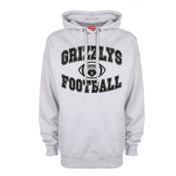 Sweat-shirt capuche gris GRIZZLYS