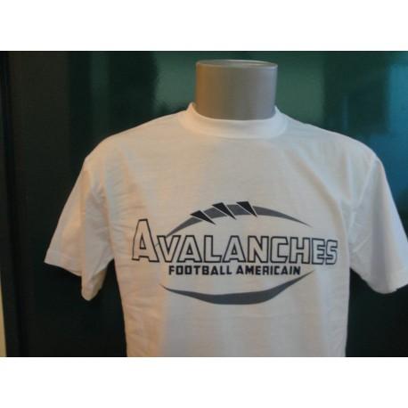 T-shirt blanc ou gris sérigraphie 2 couleurs