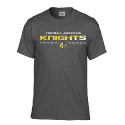 T shirt dark heather (gris chiné foncé) KNIGHTS