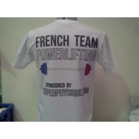 T-shirt blanc ou gris sérigraphie 3 couleurs