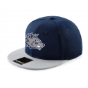 "Casquette ""snap back"" Navy & Grey (Logo face uniquement)"