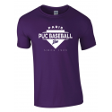 "T shirt violet ""Since 1923"" PUC Baseball"