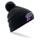Bonnet pompom noir PUC Baseball
