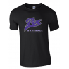 T shirt noir personnalisé PUC Baseball