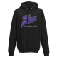Sweat-shirt capuche noir PUC baseball