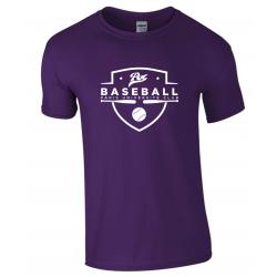 T shirt violet PUC baseball
