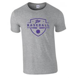 T shirt gris chiné PUC baseball